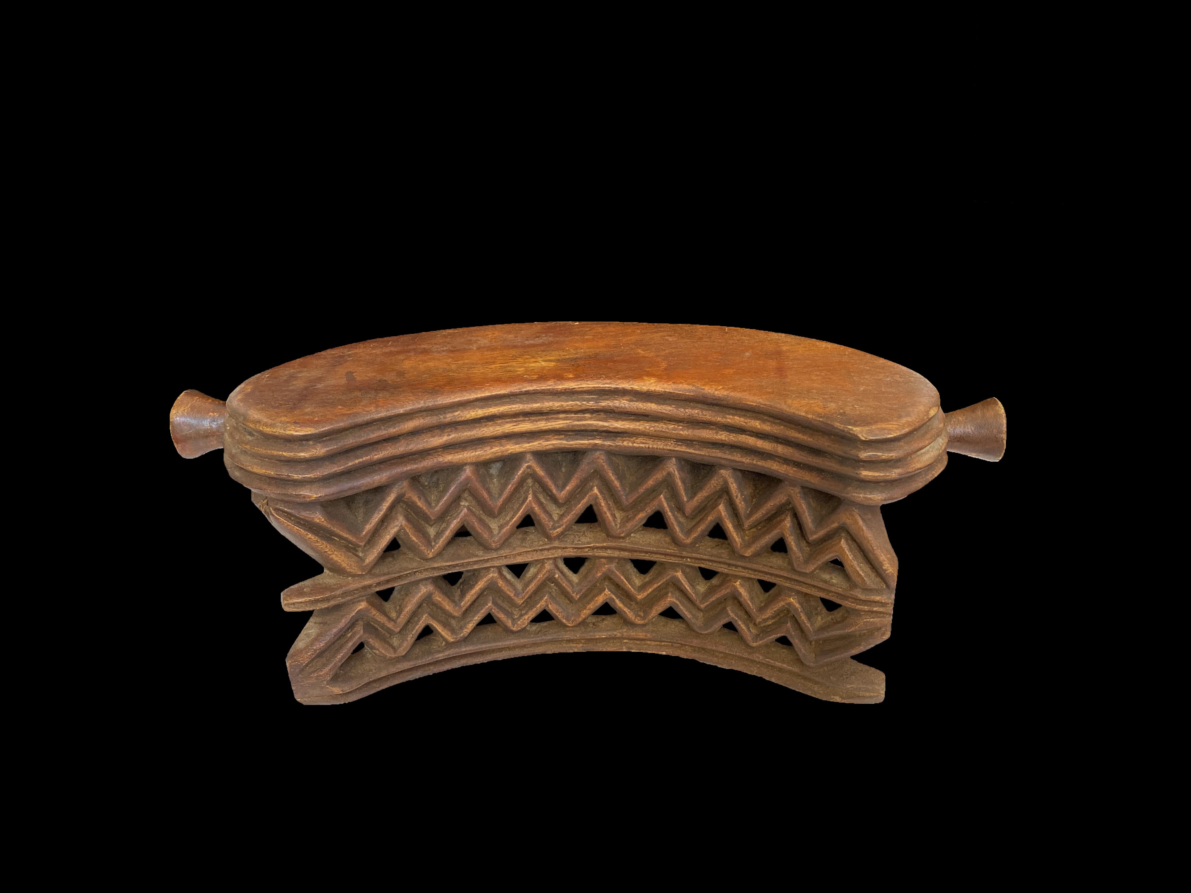Wooden Stool/Headrest - Dinka People, South Sudan