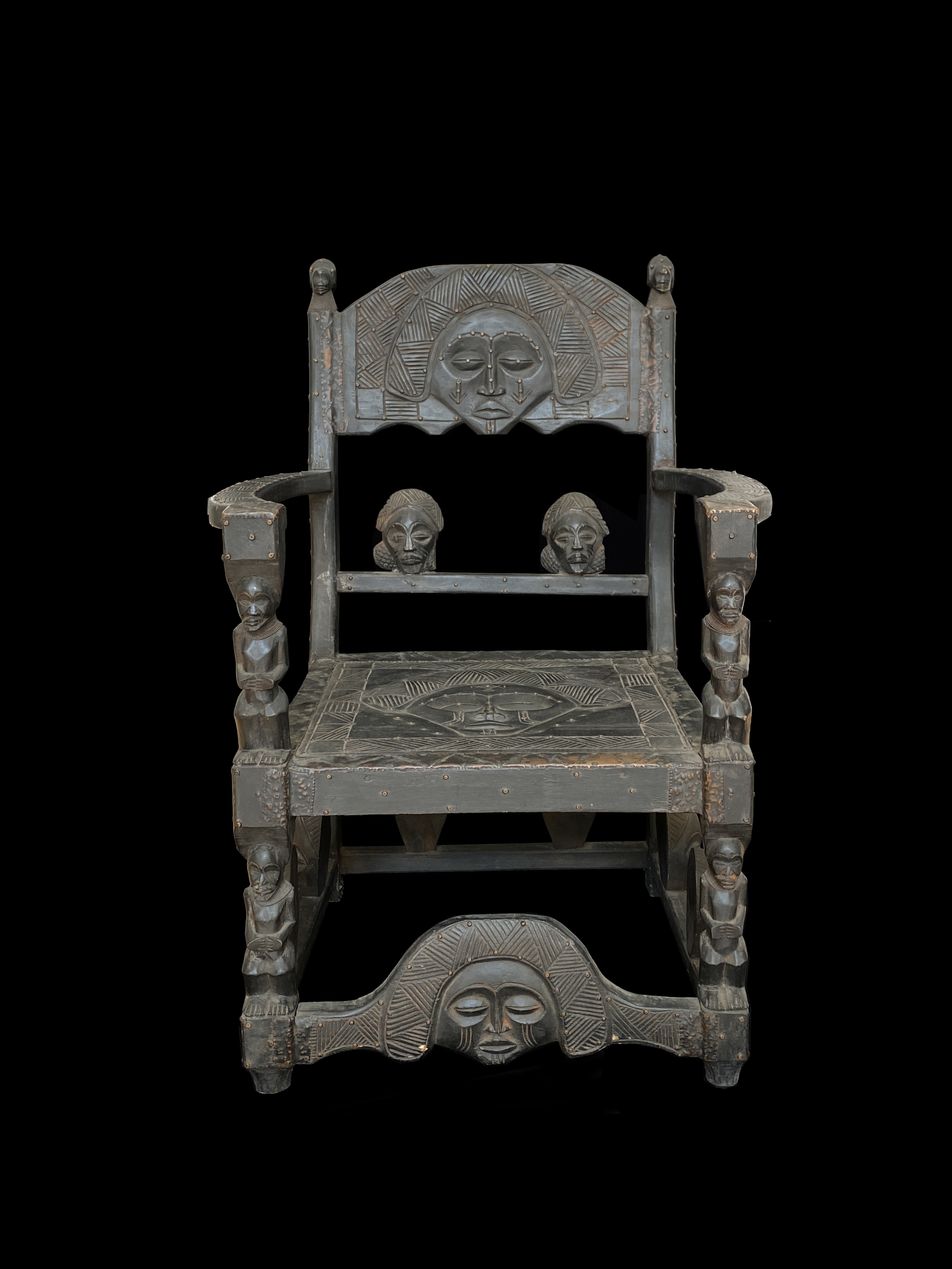 Prestige Chair, or Ngundja - Chokwe People, Angola, southwestern parts of the D.R. Congo and northwestern parts of Zambia.