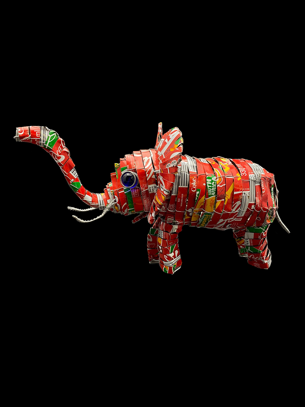 Recycled Soda Can Tin Elephant - South Africa