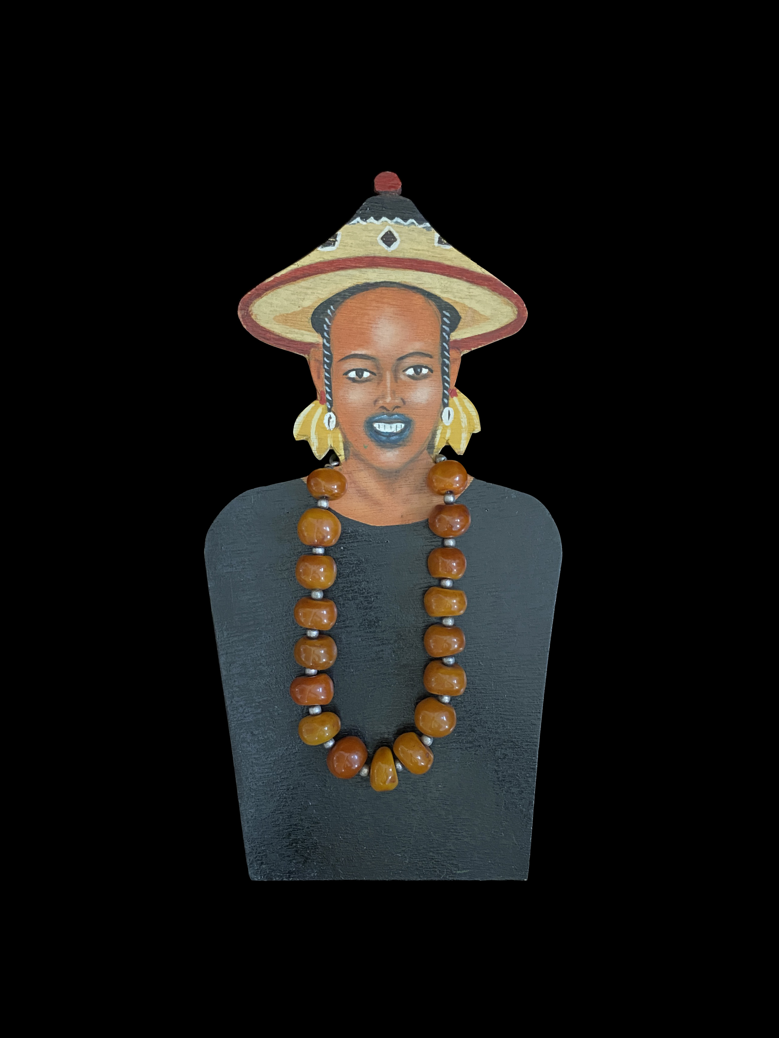 Hand Painted Jewelry Display 4, Fulani People, Nomads in West Africa