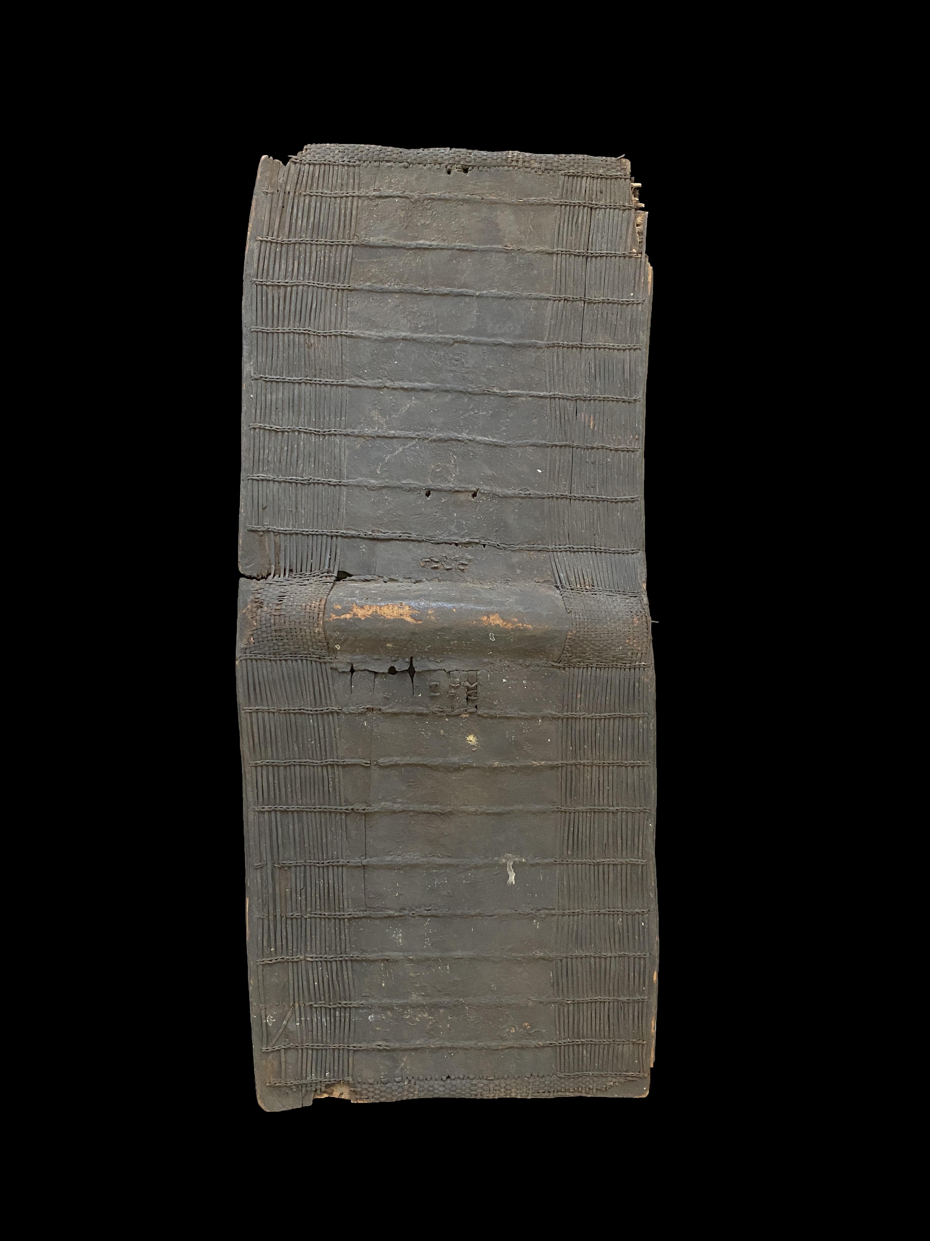 Palm Bark Basketry Shield - Topoke People, D.R. Congo