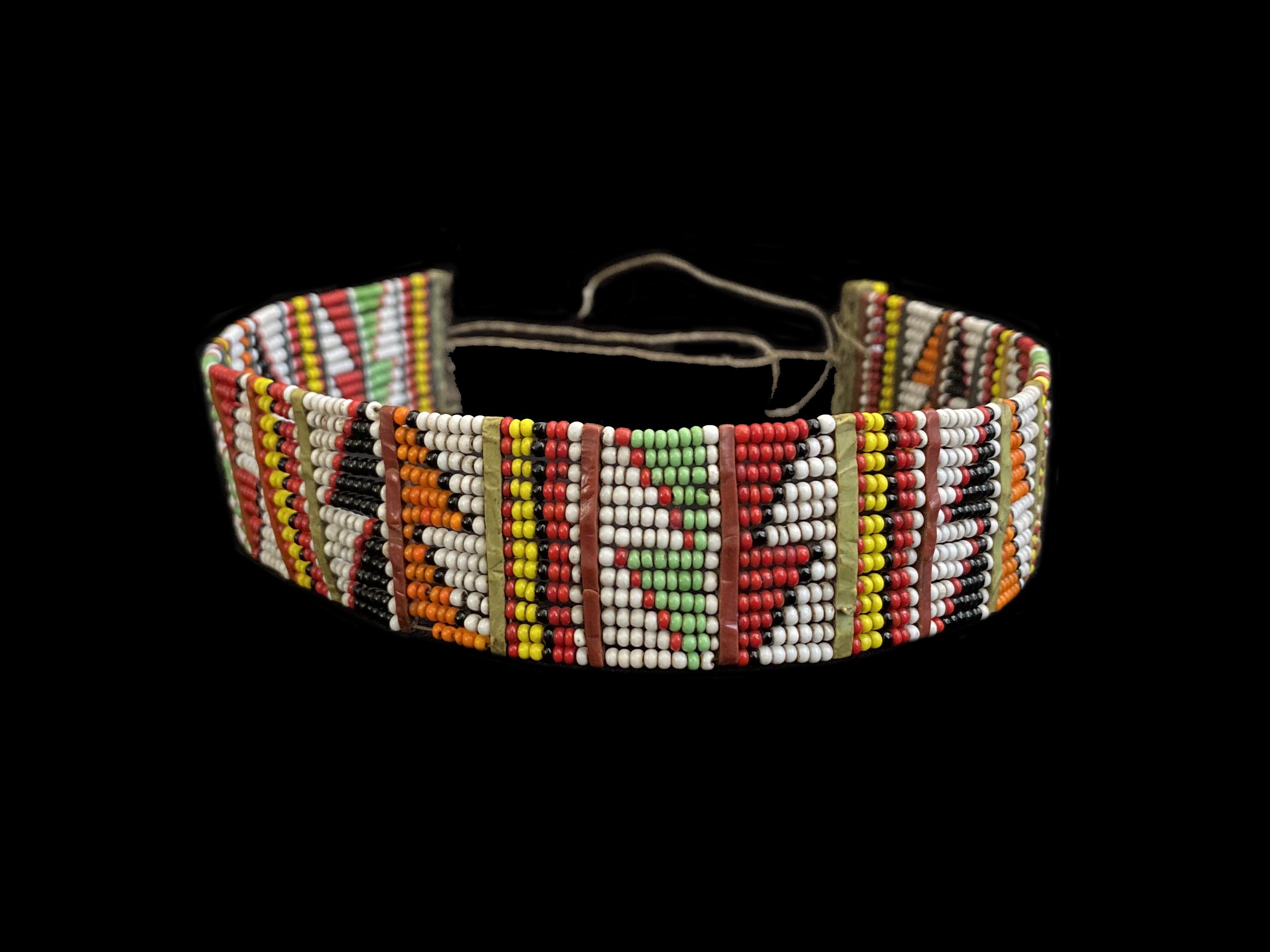 Beaded String Tie Choker - Maasai People, east Africa