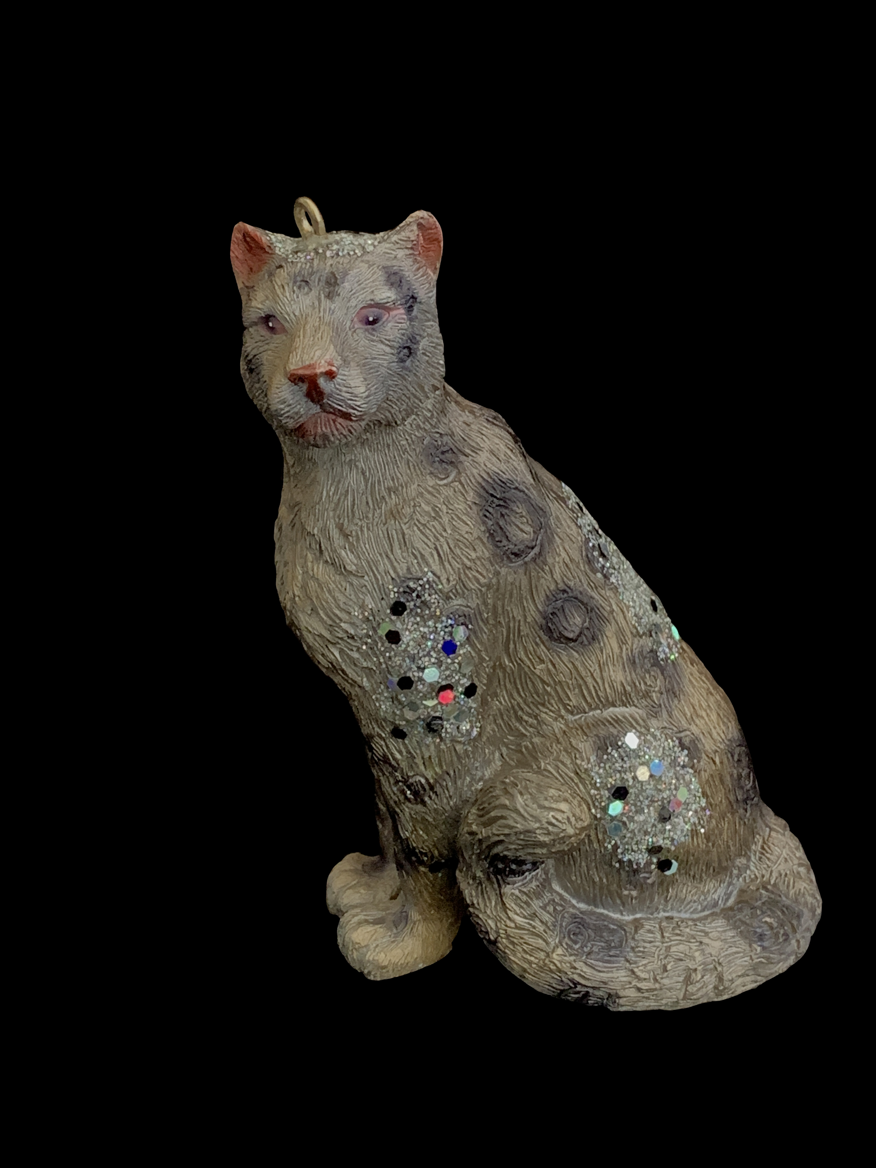 Realistic Snow Leopard Ornament