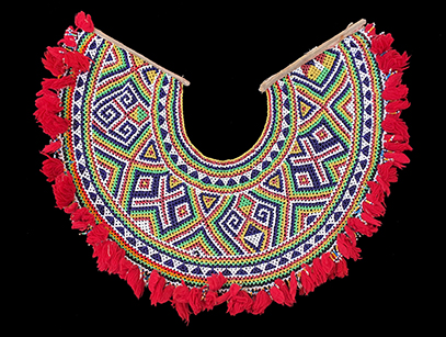 'Marek Empang' Beaded Collar - Iban People, Sarawak, Borneo