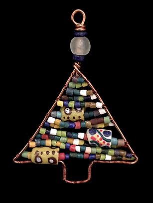 Beaded Christmas Tree Ornament - Ghana