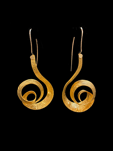 Sterling silver and gold vermeil spiral earrings (EHC 345V) - Sold
