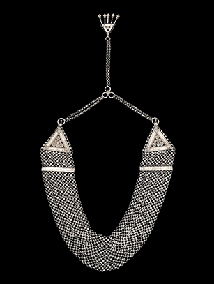 'Chandan Haar,' Silver Five-Stranded Necklace - Punjab, India
