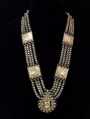 Old Gold-Gilded Indian Necklace - India (BR 190) - Please contact us for availability