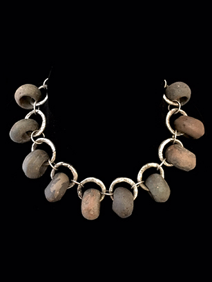 Mekong River Stone Bead Necklace (HM34)