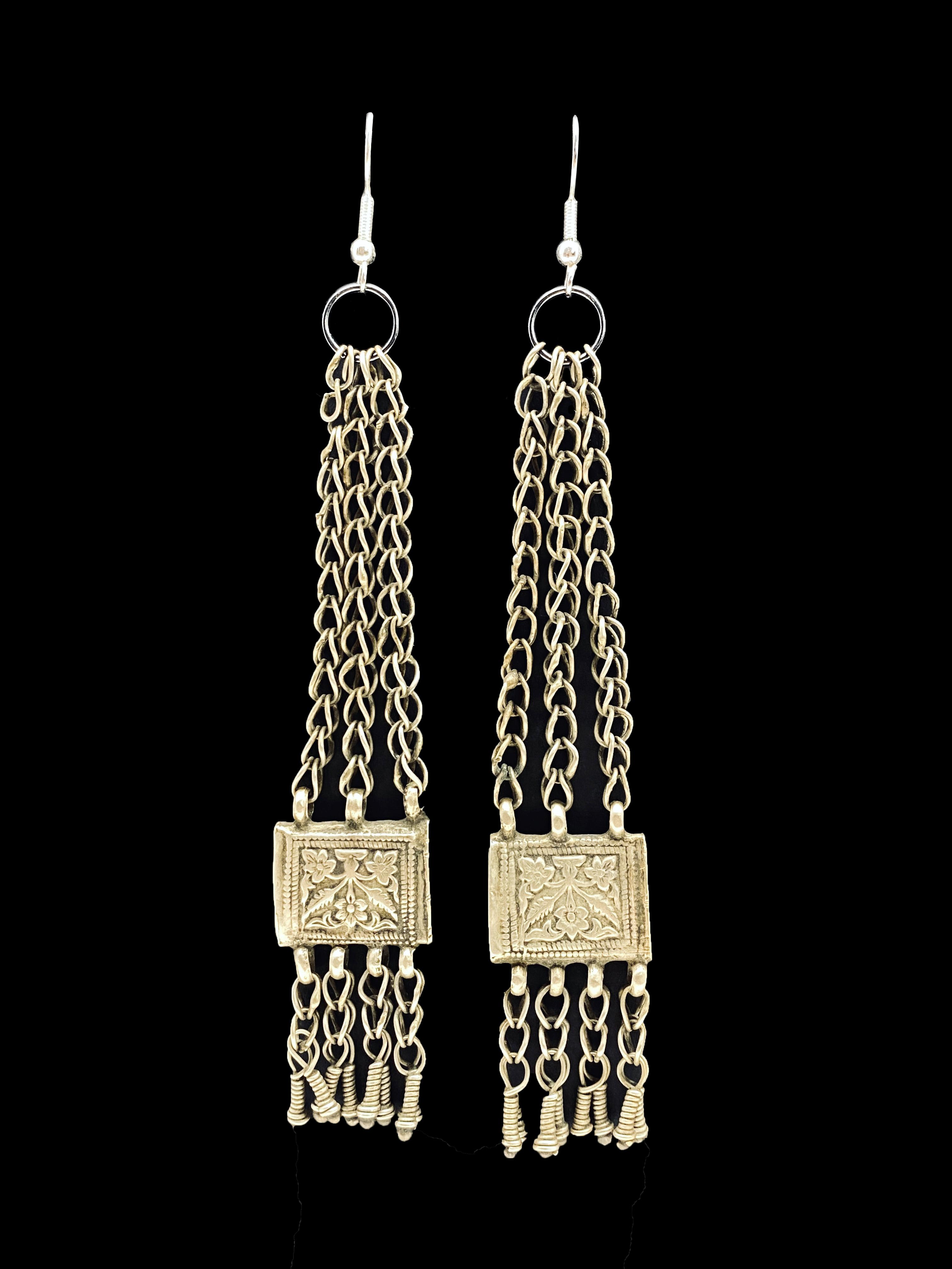 Vintage Prayer Box Earrings - India (A)