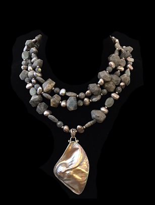 Labradorite & Mode Pearl with Sterling Silver