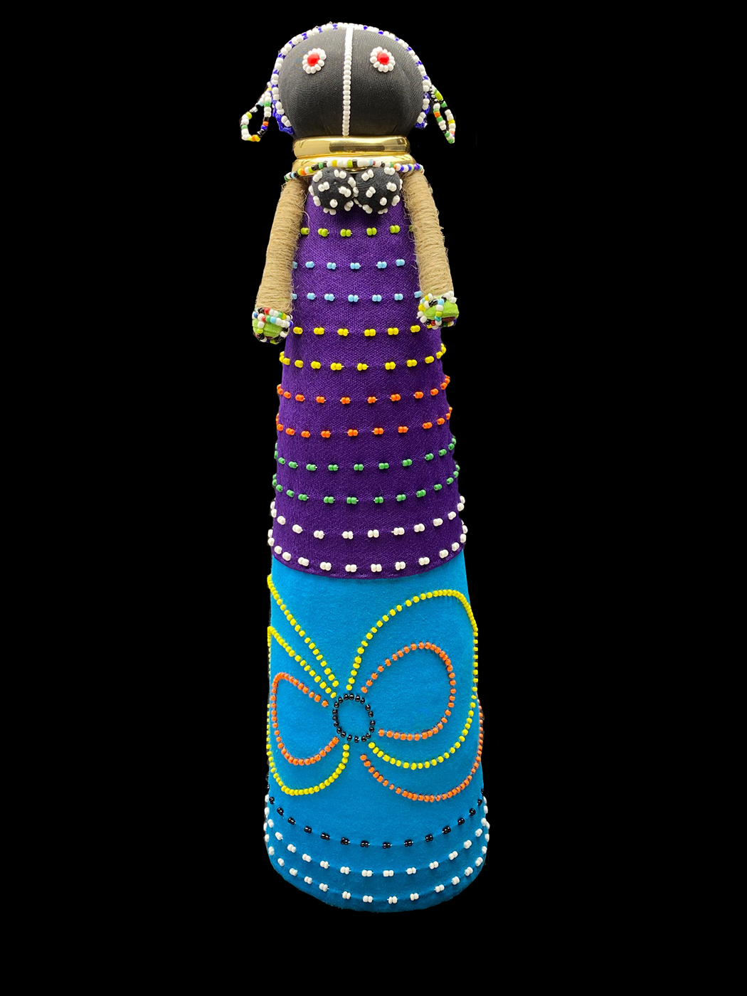 Tall Ceremonial Courtship Doll - Ndebele people, South Africa