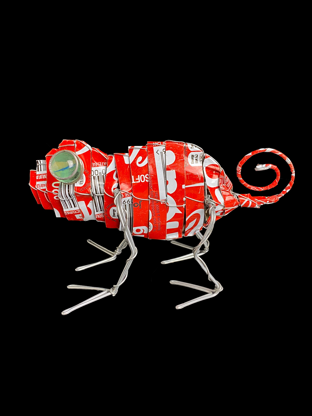 Recycled Coke Can Tin Chameleons - South Africa