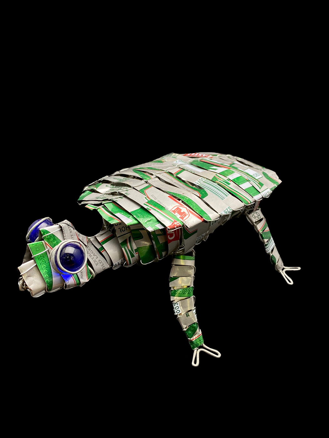 Recycled Soda Can Tin Turtle - South Africa