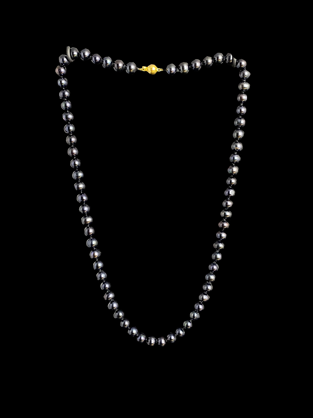Cultured Black Pearl Necklace