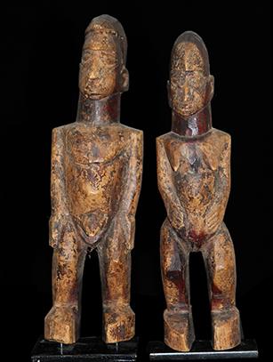 Pair of Bateba Figures - Lobi People, Burkina Faso