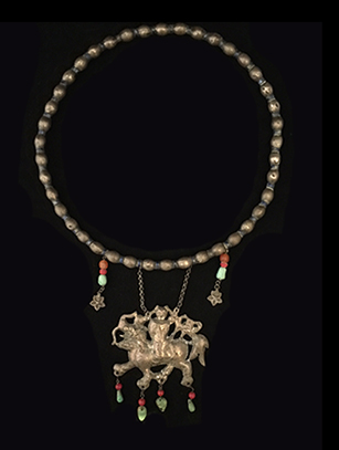 Silver Necklace - Qing Dynasty, China (#BR114) - Please contact us for availability