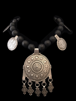 Black Onyx and Moroccan Silver Necklace