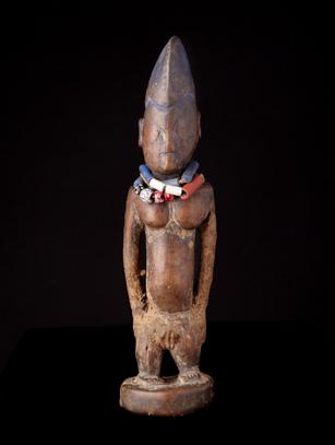Ibeji with Beads - Yoruba People, Nigeria (#0279)