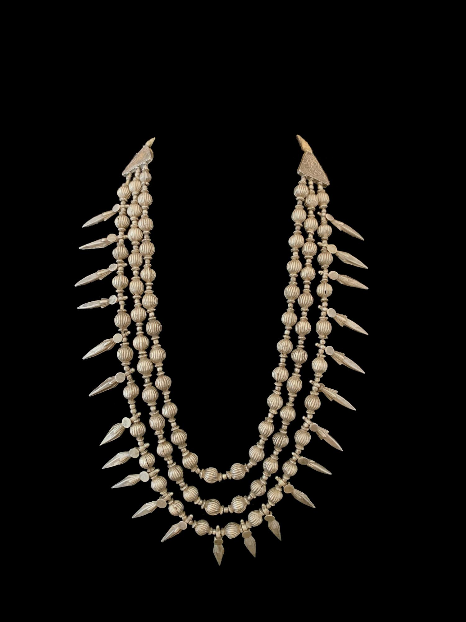 Tribal Silver Necklace from northern India