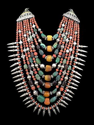 Multi-Strand Ladakh Necklace (#2) - India - Sold
