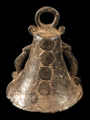 Diviners Bell with Chameleon Design - Lobi people, Burkina Faso