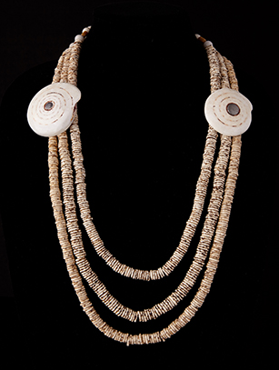 Bushman Ostrich Egg Shells Necklace (0178)