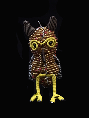 Bead & Wire Owl Ornament - South Africa