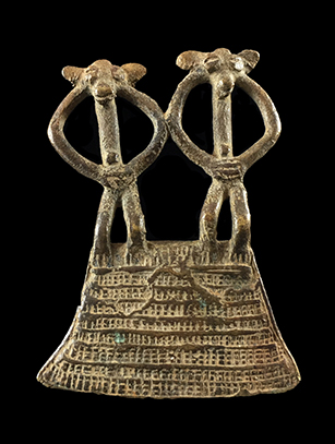 Double-Figured Divination Pendant - Senufo People, Ivory Coast