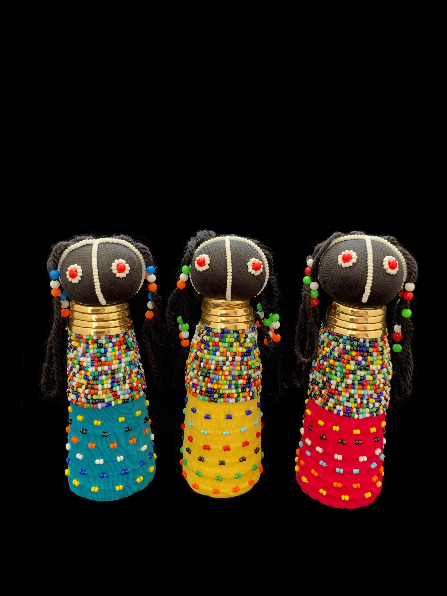 Beaded Rasta Doll - Ndebele People, South Africa
