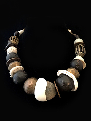 Ethnic Necklace with Terra Cotta & Shell