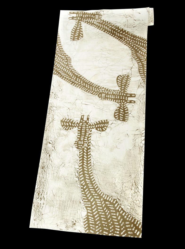Giraffe Batik Table Runner/ Wall Hanging, Luangwa Valley Zambia