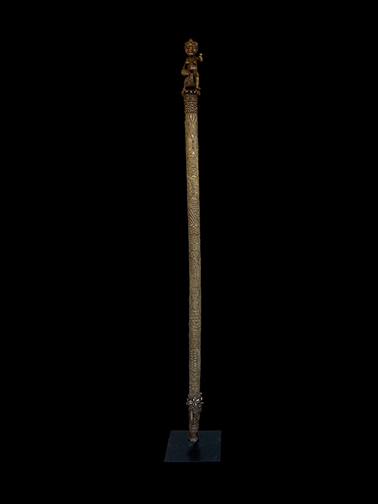 Ceremonial Bronze Staff - Bamileke People, Cameroon Grassfields