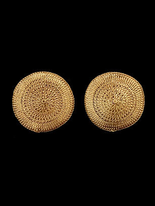 Woven Clip Earrings with 18k Gold Plate (64gg)