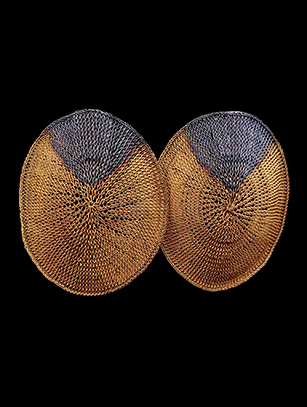 Oval-Shaped Woven Earrings w/ Sterling & 18k Gold Plate (58OVL) - SOLD (Special Order Available)