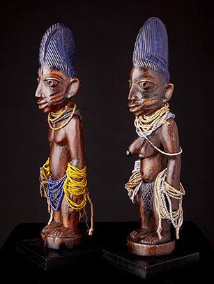 Ibeji Twins - Yoruba People - Nigeria - Sold Yoruba Tribe Twins