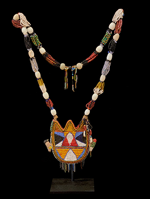 Yoruba beaded divination necklace - Nigeria - SOLD