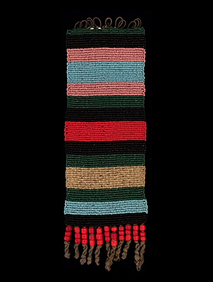 Pair of Beaded Zulu Anklets - Zulu People, South Africa