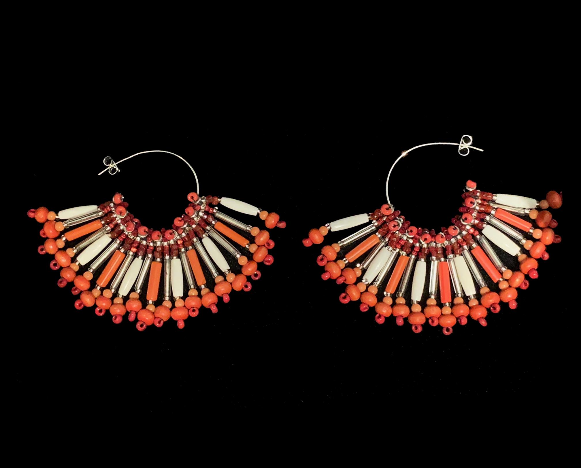 Michele Lorenzo Coral Earrings - ML6