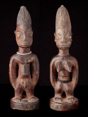 Ibeji Pair - Yoruba People, Nigeria (#0290)