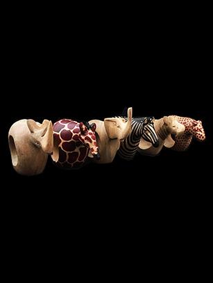 African Safari Animal Napkin Rings (Set of 6) - Kenya (Temporarily sold out)