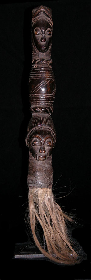 Janus Flywhisk - Baule People, Ivory Coast