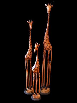 Olivewood Giraffes - Zimbabwe - SOLD