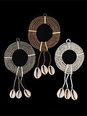 Beaded Maasai Neck Collar Ornament Set - Kenya