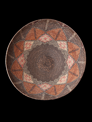 Old Zulu Open-Bowl Basket - Zulu People, South Africa