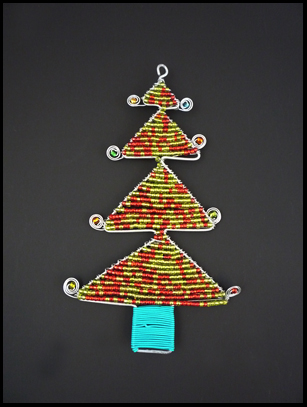 Bead and Wire Christmas Tree Ornament - South Africa