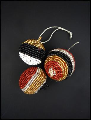 Beaded Ball Ornament (#1) - Maasai - Kenya