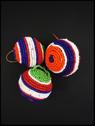 Beaded Ball Ornament (#2) - Maasai - Kenya