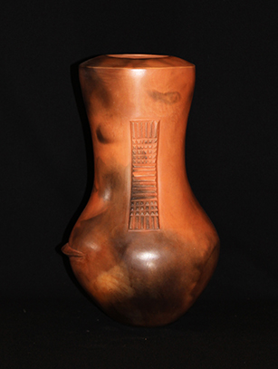 Zulu Clay Vessel by Clive Sithole