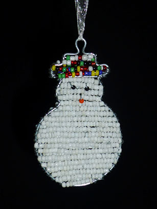 Beaded Snowman - South Africa